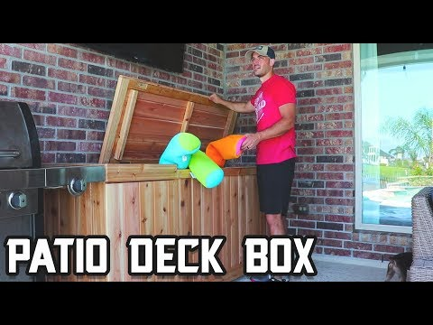 How to make a patio deck box!