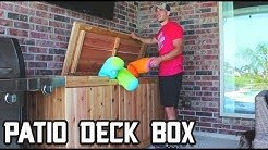 How to Make a Patio Deck Box // Pool Storage