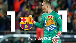 Real Sociedad Vs. FC Barcelona Penalty Shootouts