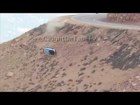 RACE CAR GOES OVER CLIFF - 3 ANGLES / AMAZING CRASH! - UPDATE