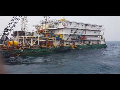 Activity at offshore AHT Vessel.