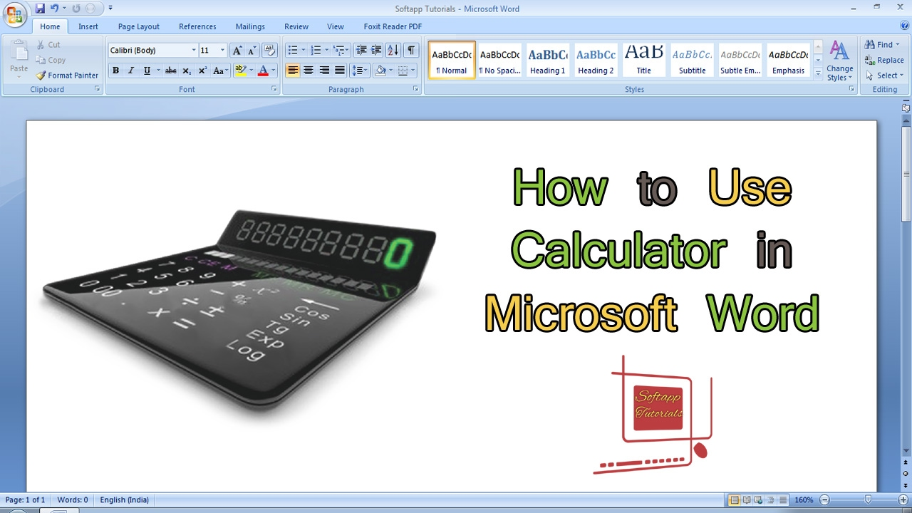 how to use calculator in microsoft word