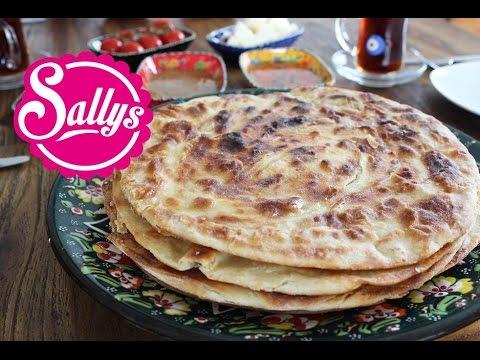 Katmer Ekmek / türkisches Brot aus der Pfanne / mit süßen und herzhaften Frühstücksideen