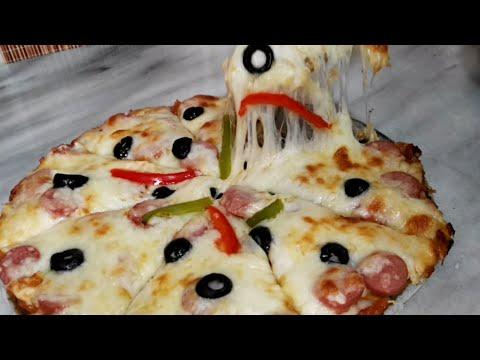 صورة  طريقة عمل البيتزا طريقه عمل بيتزا بدون دقيق ولا خميرة😇 pizza without flour or yeast طريقة عمل البيتزا من يوتيوب
