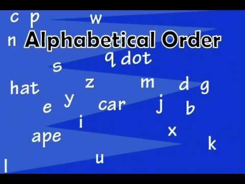 A Lesson on Alphabetizing