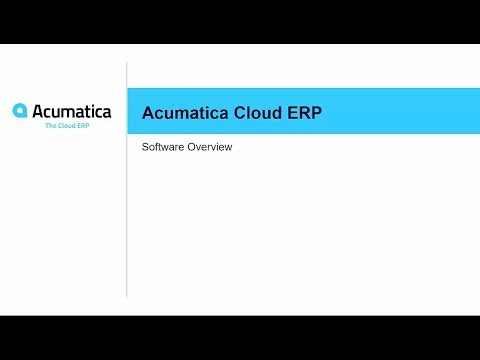 Product Tour: Acumatica Cloud ERP Demo