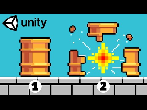 Break Apart and Explode 2D  Game Objects in Unity! | Game Dev Tutorial thumbnail