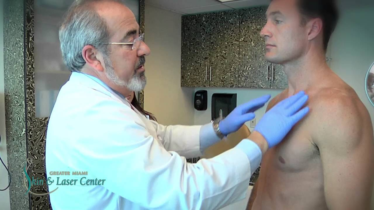 Male nude medical exam