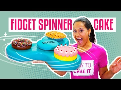 Thumbnail: How To Make A FIDGET SPINNER Out Of CAKE | It Actually SPINS! | Yolanda Gampp | How To Cake It