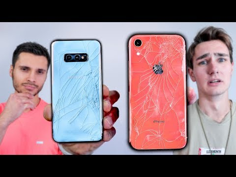 Samsung Galaxy S10e vs iPhone XR Drop Test