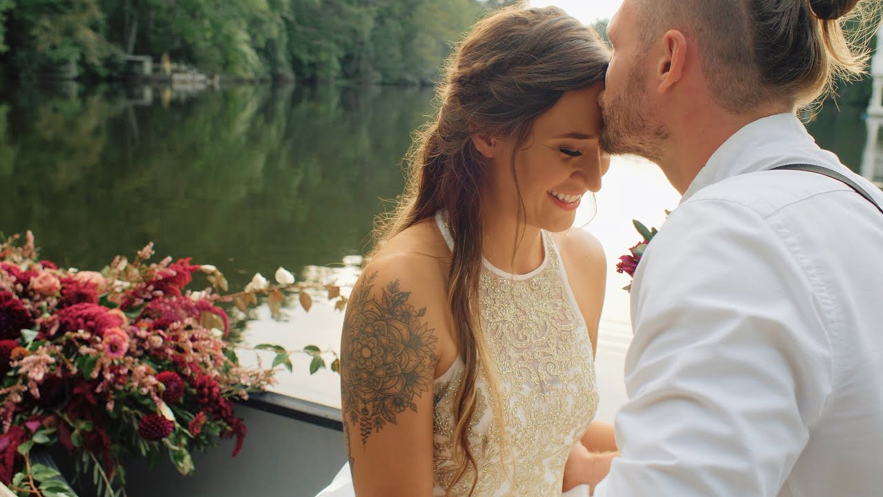 Romantic Boho Woodland Canoe Wedding || Camp Pinnacle, NC