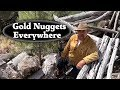 Finding Gold Nuggets at Old Miners Cabin - ask Jeff Williams