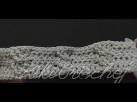 Crochet Cable Stitch (double cables- english tutorial)
