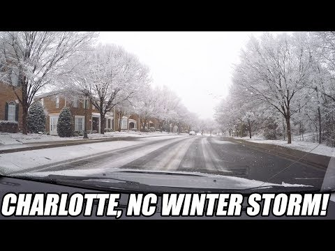 CHARLOTTE BLIZZARD OF 2018 - Driving on Hankook Summer Tires