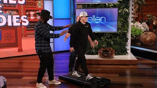 Ellen Gives Andy a Fast Walking Trivia Test