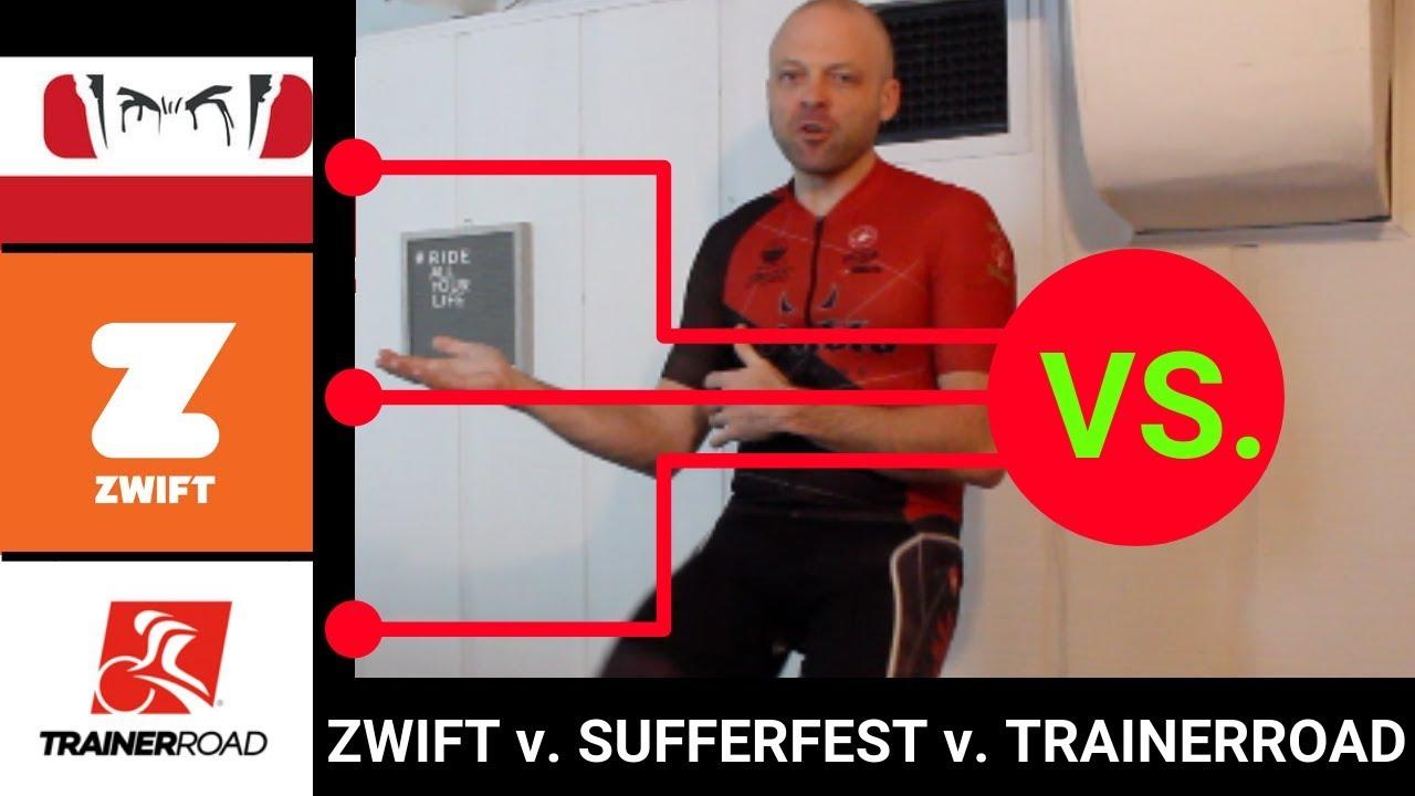 Zwift v Sufferfest v TrainerRoad (2019)