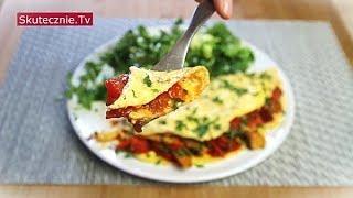 Omlet z boczniakami i pomidorem. I zielona sałatka :: Skutecznie.Tv