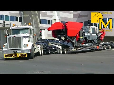 MOVING HEAVY CRUSHER + SCREENING PLANT OUT FROM CONEXPO LAS VEGAS # CLEANOUT AT CONVENTION CENTER #4