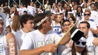 Scotch Plains student section goes crazy before soccer game  vs. Westfield