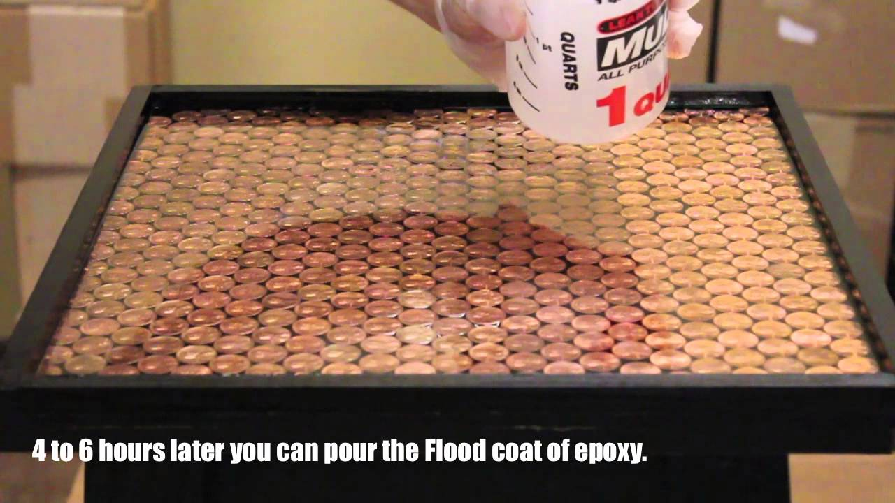 Best bar top penny tutorial youtube for Acrylic bar top