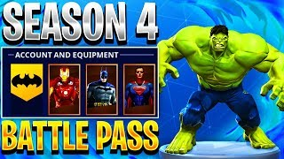 THE AVENGERS IN FORTNITE! - Fortnite Season 4 Superhero Battle Pass