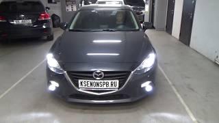 Mazda 3 III (BM) - Полностью светодиодное головное освещение + MR LED