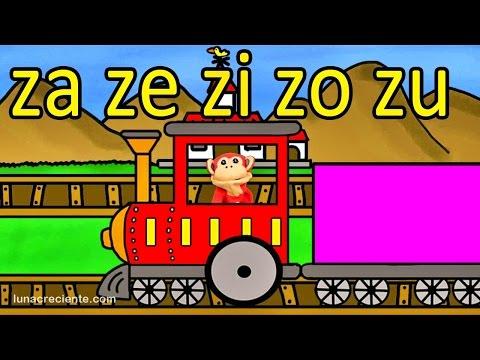 Sílabas za ze zi zo zu  El Mono Sílabo  Videos Intiles  Educación para Niños