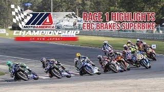 EBC Brakes Superbike Race 1 Highlights at The MotoAmerica Championship of New Jersey