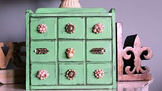 How To Create A Romantic Upcycled Jewelry Box - Diy Home Tutorial - Guidecentral