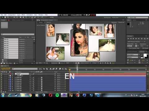 Slide de Fotos em 3D After Effects e sincronia de áudio aula [03] iniciantes