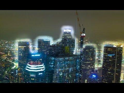 Los Angeles Skyline BY DRONE in 4K!!