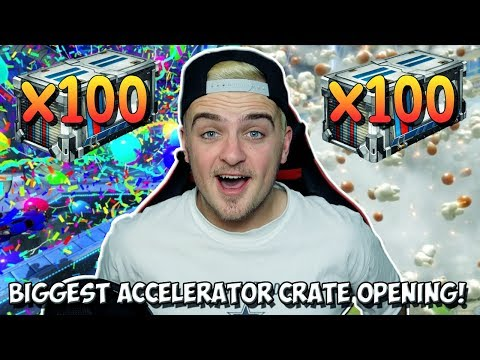INSANE 100+ NEW ACCELERATOR ROCKET LEAGUE CRATE OPENING! | PAINTED EXOTICS & MORE!