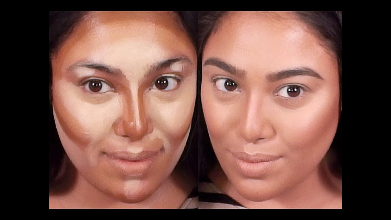 Contour makeup before and after celebrity plastic surgery