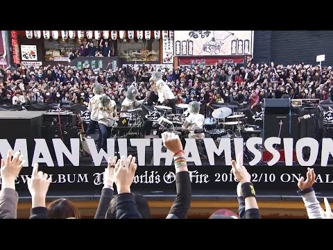 MAN WITH A MISSION 「The World's On Fire」 Special Free Live in Dotonbori River, Osaka