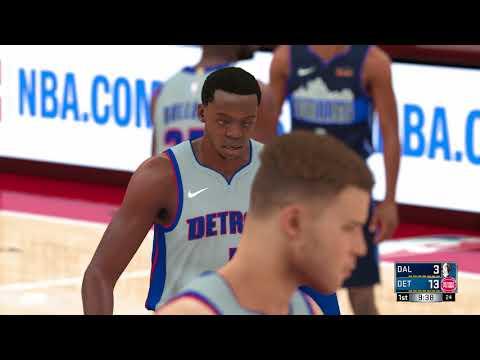 NBA 2K18 Dallas Mavericks vs Detroit Pistons