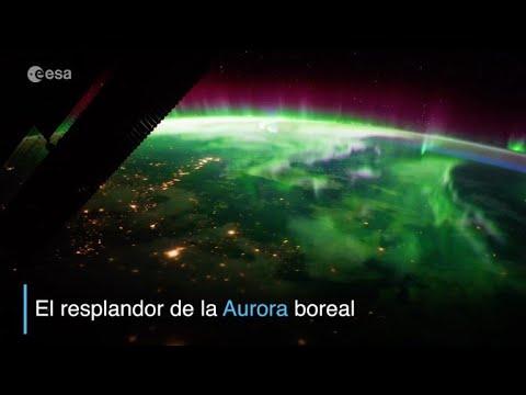 afpes: La esplendorosa aurora boreal, vista desde el espacio