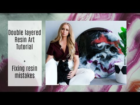 How to create a double layered Resin Artwork