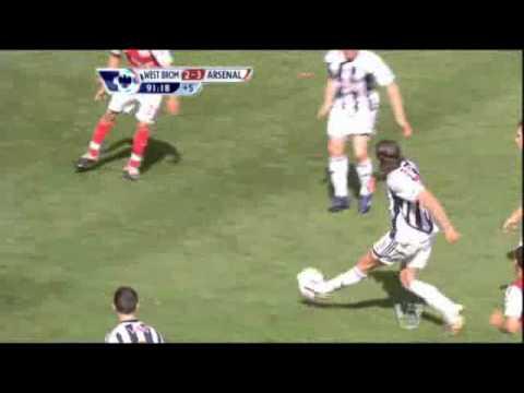 Kieran Gibbs' tackle vs West Brom