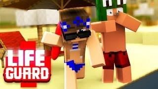 Minecraft Baywatch - SWIMMING TO SAVE A BOYS LIFE! #1 with / Little Carly
