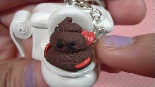 Love Stinks: Polymer Clay Poop on a Toilet