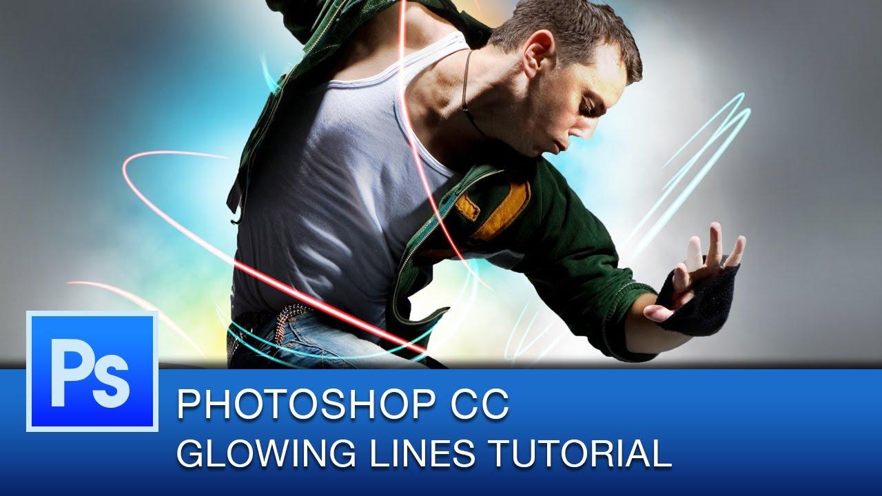 Photoshop Neon Glowing Lines Tutorial | Photoshop CC - YouTube