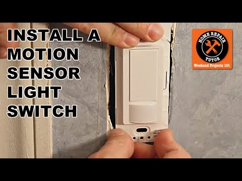 How to Install the Maestro Motion Sensor Light Switch -- by Home Repair Tutor