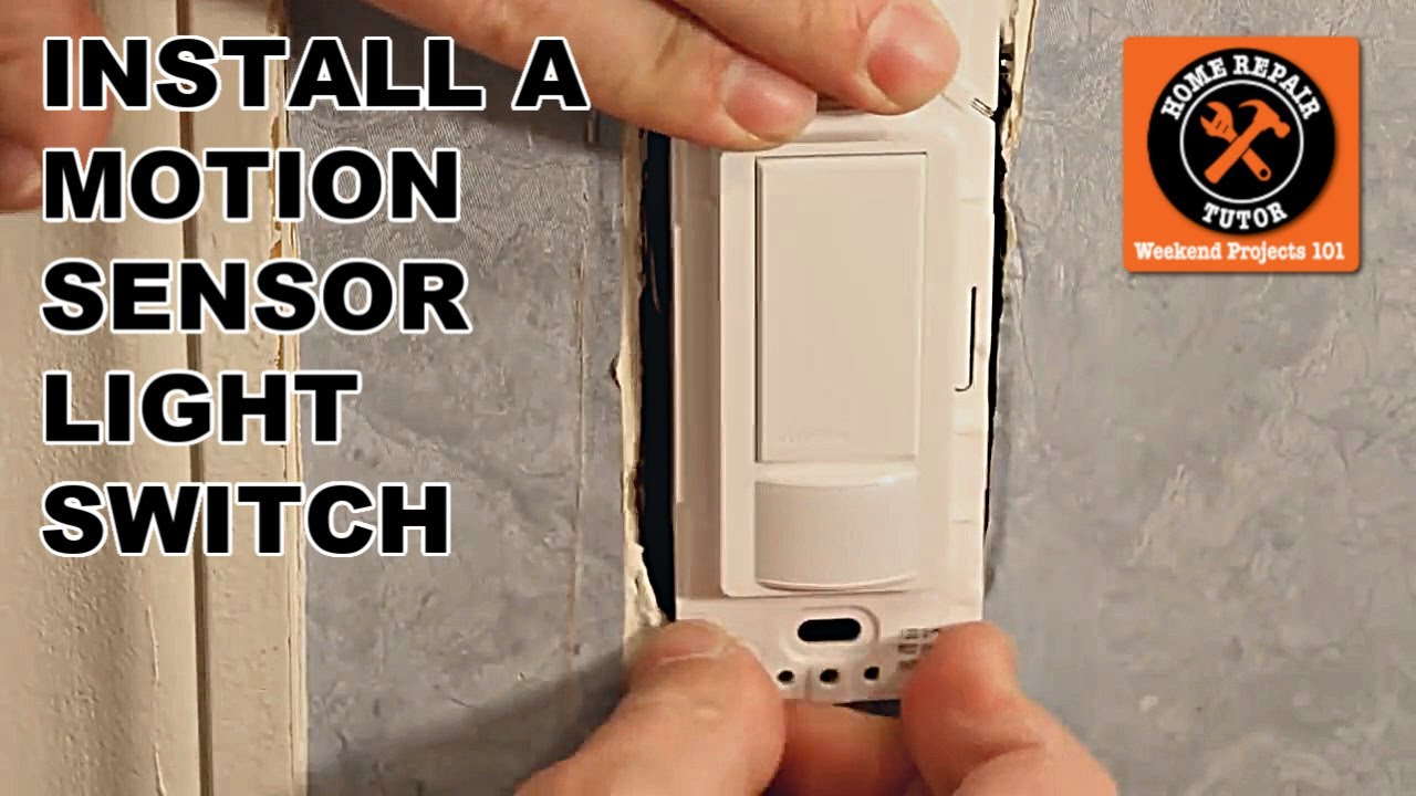 how to install the maestro motion sensor light switch by home repair tutor youtube [ 1280 x 720 Pixel ]