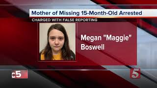 Mother Of Missing Evelyn Boswell Arrested, Charged In Amber Alert Case