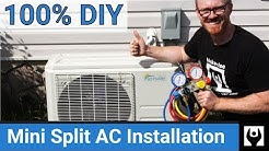 DIY Mini Split AC Installation - Air Conditioning Install without Professional Help