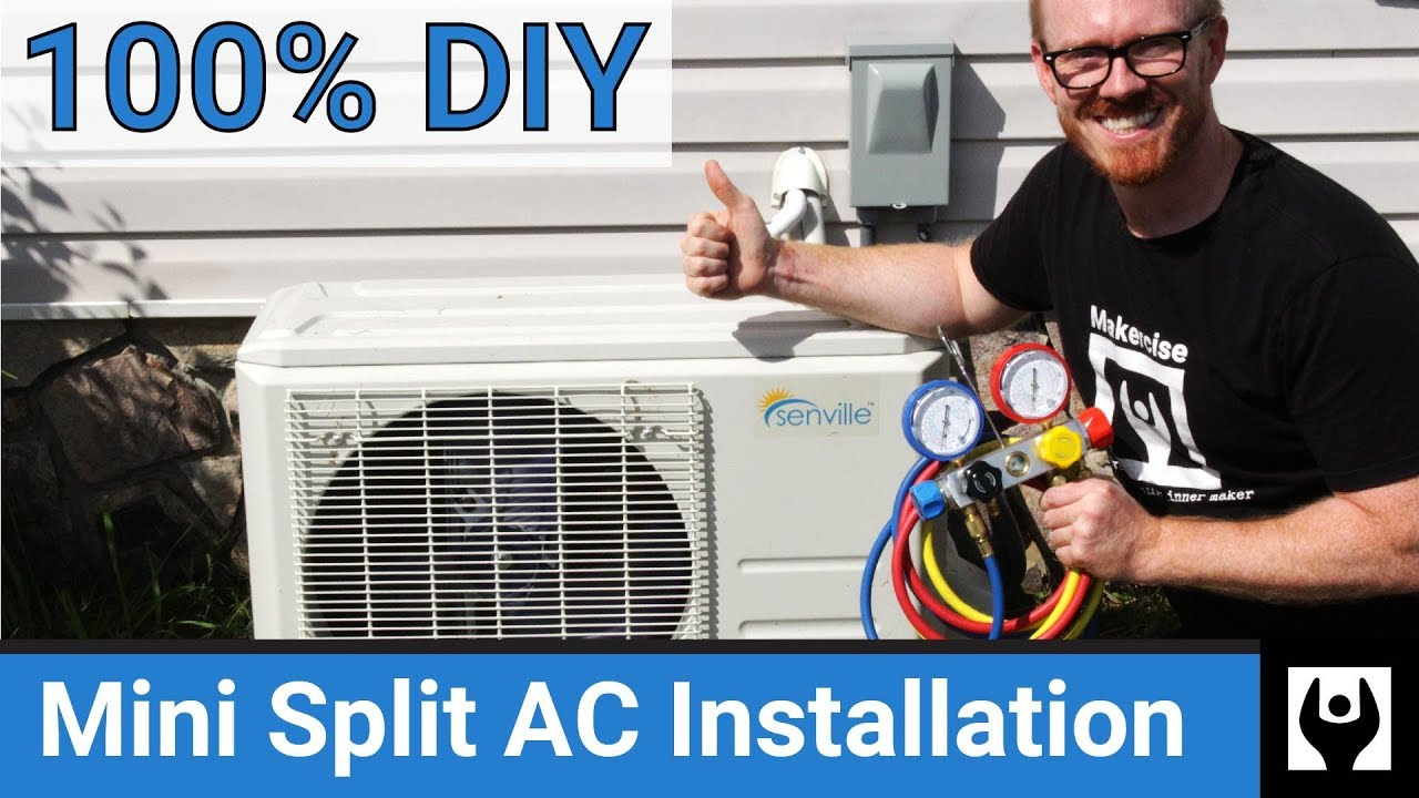 Diy Mini Split Ac Installation Air Conditioning Install Without