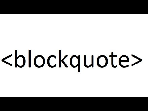 Learn HTML code: blockquote