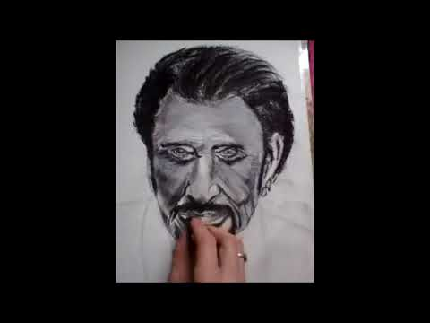 Demonstration Portrait Dessin De Johnny Hallyday Youtube