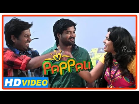 Pappali Tamil Movie | Scenes | Ishara And Mirchi Senthil At The Beach | Nandu Jagan | Singampuli