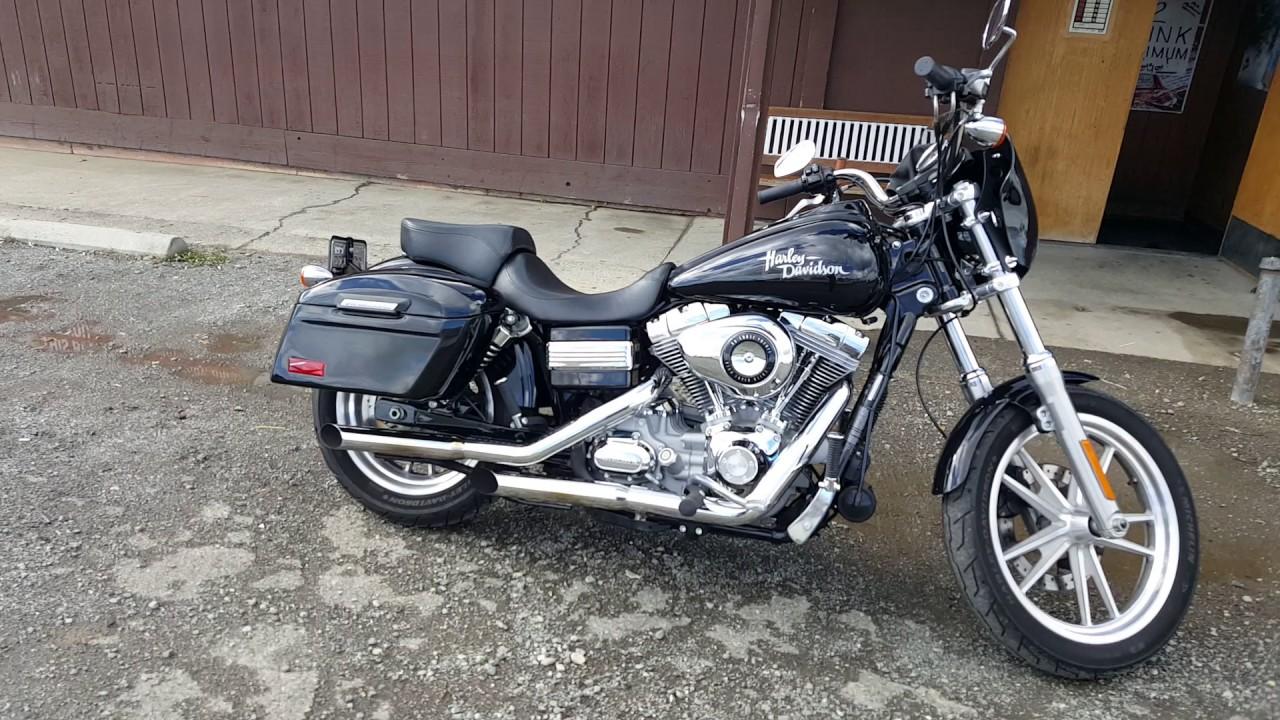 2010 harley davidson dyna super glide hard motorcycle saddlebags